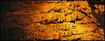 Cave walls. Wind Cave National Park (Panoramic color)