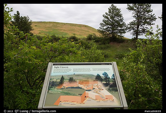 Interpretive sign, hills. Wind Cave National Park (color)