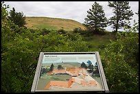 Interpretive sign, hills. Wind Cave National Park ( color)