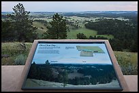 Rankin Ridge view interpretative sign. Wind Cave National Park, South Dakota, USA. (color)