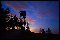 Lookout tower at dusk, Rankin Ridge. Wind Cave National Park ( color)