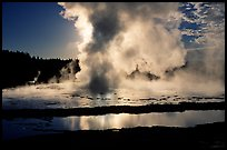 Great Fountain geyser eruption. Yellowstone National Park ( color)