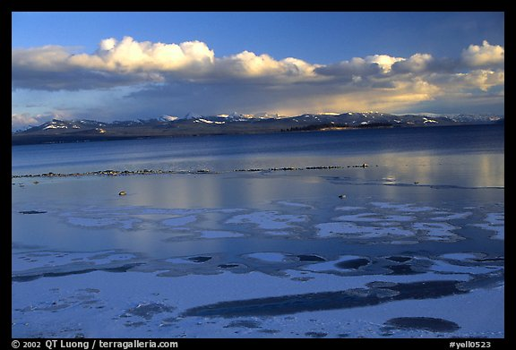 Ice on Yellowstone lake. Yellowstone National Park (color)