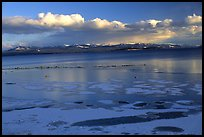 Ice on Yellowstone lake. Yellowstone National Park, Wyoming, USA.