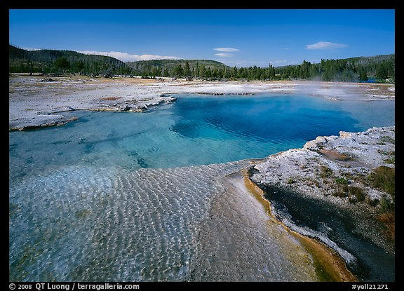 Sapphire Pool, afternoon. Yellowstone National Park (color)