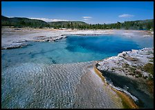 Sapphire Pool, afternoon. Yellowstone National Park, Wyoming, USA.