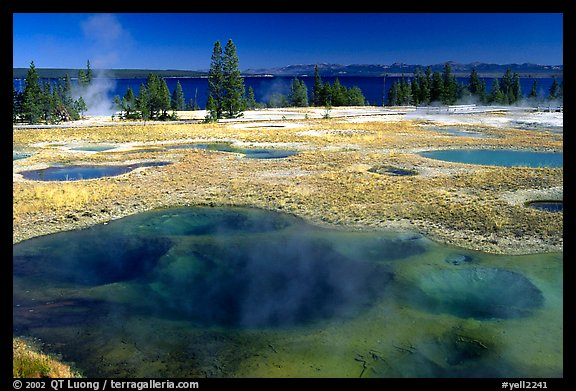 West Thumb Geyser Basin. Yellowstone National Park (color)