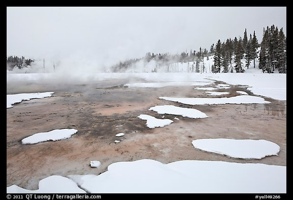 Chromatic Spring in winter. Yellowstone National Park (color)
