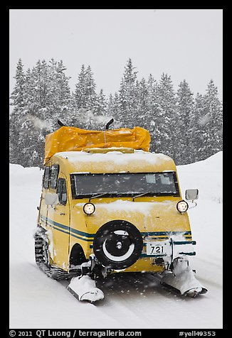 Bombardier snow bus. Yellowstone National Park (color)