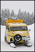 Bombardier snow bus. Yellowstone National Park, Wyoming, USA. (color)