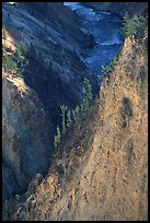 Wall and River in Grand Canyon of the Yellowstone. Yellowstone National Park, Wyoming, USA. (color)