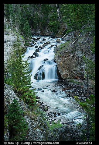 Firehole Falls. Yellowstone National Park (color)