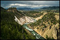 Yellowstone River. Yellowstone National Park ( color)
