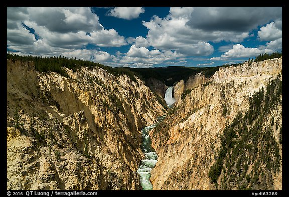 Grand Canyon of the Yellowstone from Artists Point. Yellowstone National Park (color)