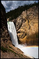 Lower Falls of the Yellowstone River from bottom. Yellowstone National Park ( color)