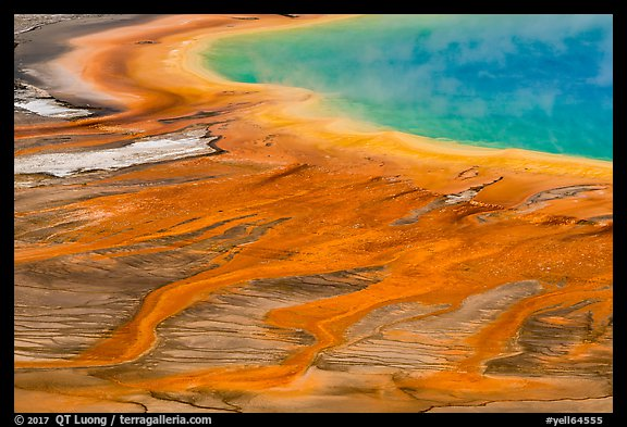 Grand Prismatic Spring detail from above. Yellowstone National Park (color)