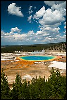 Grand Prismatic Spring from new overlook. Yellowstone National Park ( color)