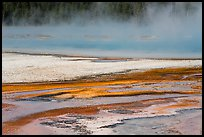 Steam rising from Rainbow Pool. Yellowstone National Park ( color)