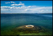 Fishing Cone and Yellowstone Lake. Yellowstone National Park ( color)