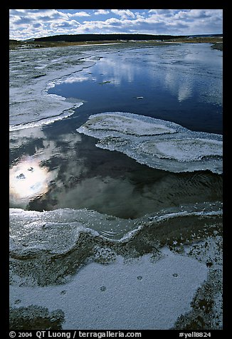 Frost along the Firehole River. Yellowstone National Park (color)
