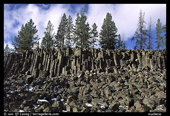Basalt columns. Yellowstone National Park (color)
