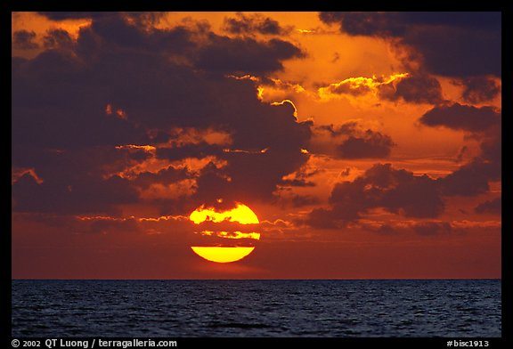 Sun rises over the Atlantic ocean. Biscayne National Park (color)