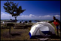 Camping on Elliott Key. Biscayne National Park, Florida, USA. (color)