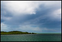 Elliot Key, Caesar Creek, and thunderstorm clouds. Biscayne National Park ( color)