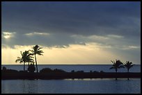 Stormy sunrise over Biscayne Bay from Bayfront Park. Biscayne National Park ( color)