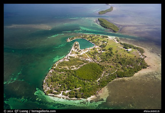 Aerial view of Boca Chita Key and Ragged Keys. Biscayne National Park (color)