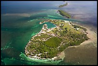 Aerial view of Boca Chita Key and Ragged Keys. Biscayne National Park ( color)