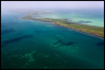 Aerial view of reef and Elliott Key. Biscayne National Park ( color)