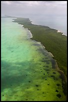 Aerial view of Biscayne Bay and Elliott Key. Biscayne National Park ( color)