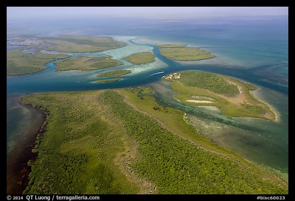 Aerial view of Ceasar Creek. Biscayne National Park (color)