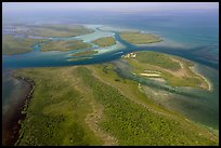 Aerial view of Ceasar Creek. Biscayne National Park ( color)