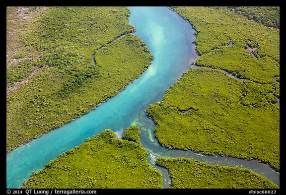 Aerial view of Hurricane Creek. Biscayne National Park (color)