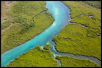 Aerial view of Hurricane Creek. Biscayne National Park ( color)