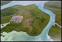 Aerial view of Hurricane Creek on Old Rhodes Key. Biscayne National Park ( color)