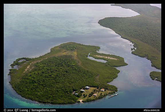 Aerial view of Adams Key. Biscayne National Park (color)