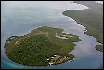Aerial view of Adams Key. Biscayne National Park ( color)