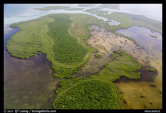 Aerial view of Totten Key and Jones Lagoon. Biscayne National Park (color)