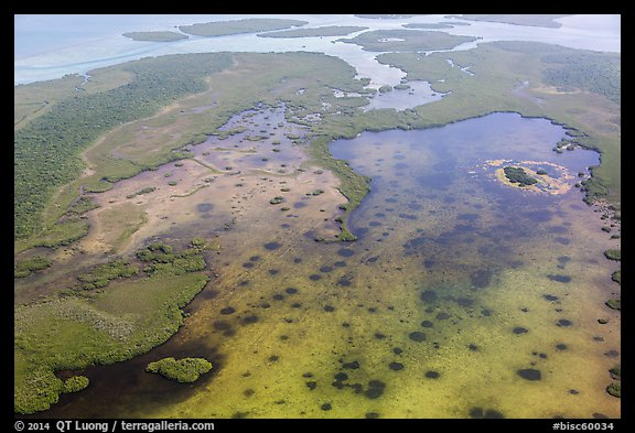 Aerial view of Jones Lagoon. Biscayne National Park (color)