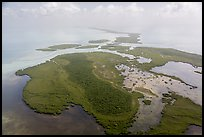 Aerial view of whole chain of keys. Biscayne National Park ( color)