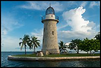 Ornemental lighthouse and cannon, Boca Chita Key. Biscayne National Park ( color)