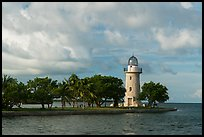 Trees and lighthouse, Boca Chita Key. Biscayne National Park ( color)