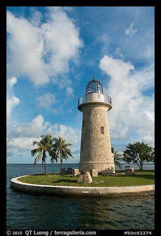 Lighthouse and cannon, Boca Chita Key. Biscayne National Park (color)