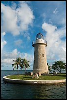 Lighthouse and cannon, Boca Chita Key. Biscayne National Park ( color)