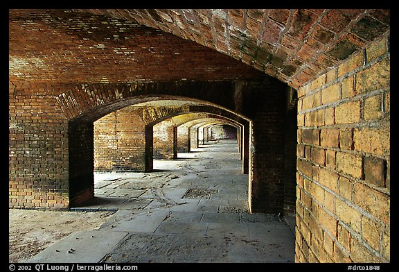 Gunroom on the first floor of Fort Jefferson. Dry Tortugas National Park (color)