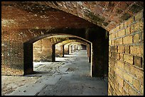 Gunroom on the first floor of Fort Jefferson. Dry Tortugas National Park, Florida, USA. (color)