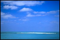 Hospital Key barely emerging from Ocean. Dry Tortugas National Park, Florida, USA. (color)
